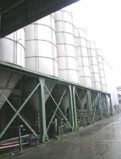 Impianto silos stoccaggio completo di silos ausiliar